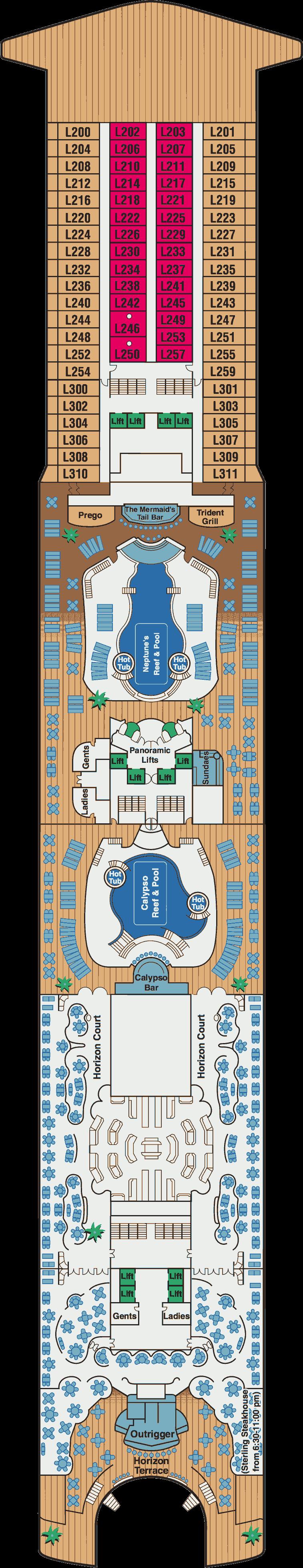 Sapphire princess deck plans for Deck blueprints online