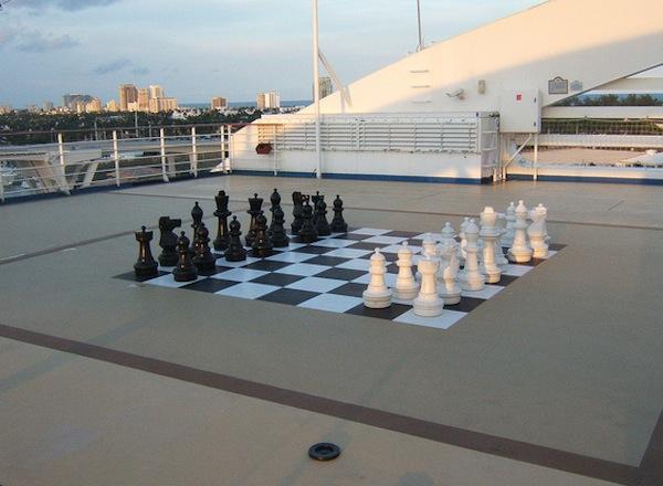 Deck Chess on Sapphire Princess