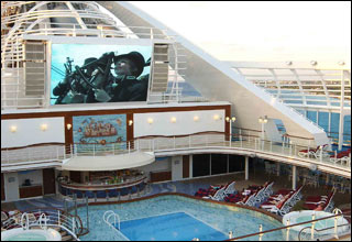 Movies Under The Stars on Sapphire Princess