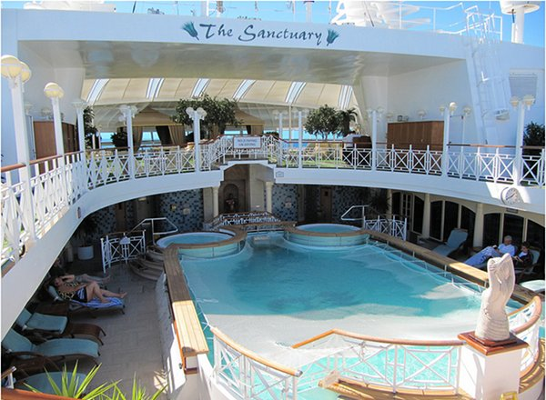 The Sanctuary on Sapphire Princess
