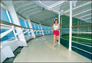 Jogging Track on Sapphire Princess