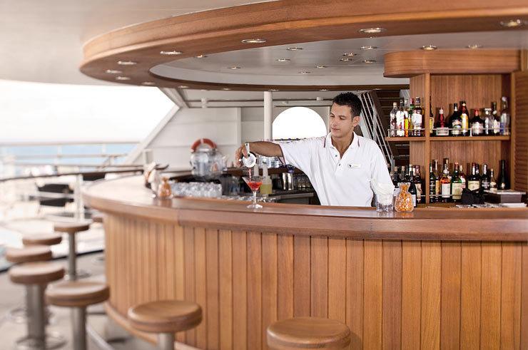 Patio Bar on Seabourn Odyssey