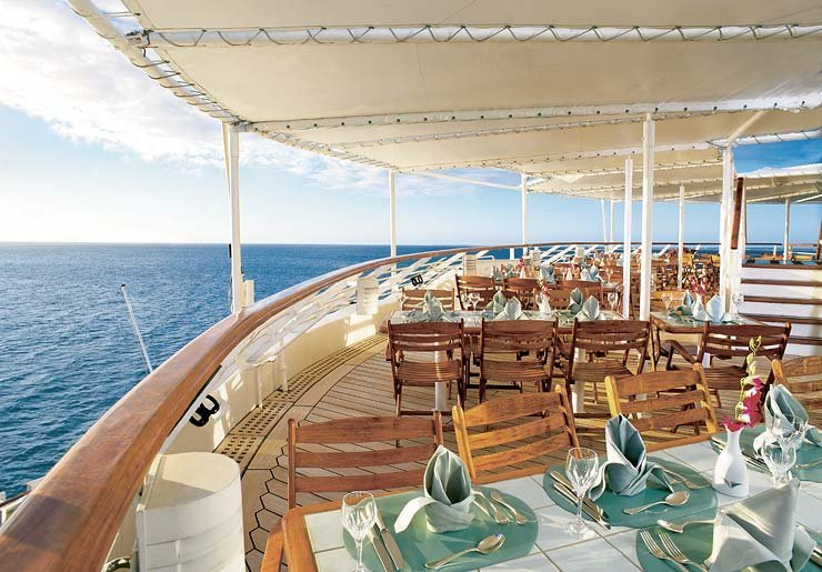 Veranda Cafe Restaurant 2 on Seabourn Pride