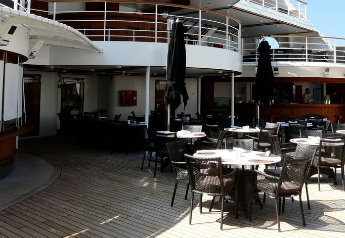 Patio Grill on Seabourn Pride