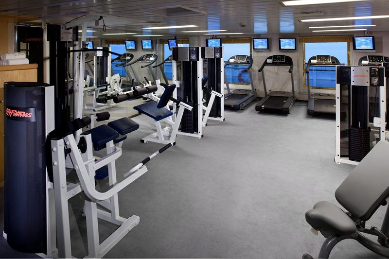 Gym on Seabourn Pride