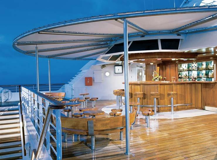 Sky Bar on Seabourn Sojourn