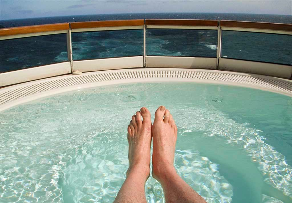 Whirlpool Deck 6 on Seabourn Sojourn