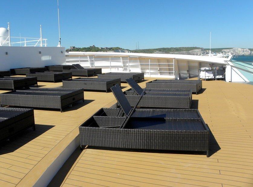 Sun Deck on Seabourn Spirit