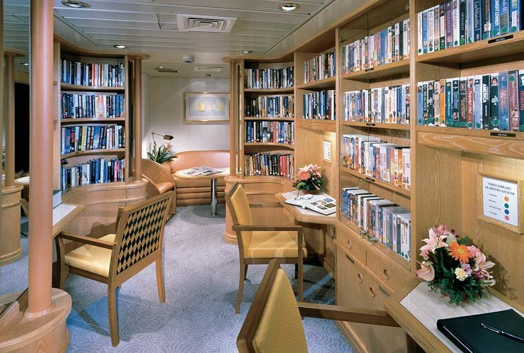 Library on Seabourn Spirit