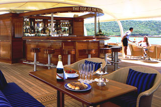 Top of the Yacht Bar on SeaDream II