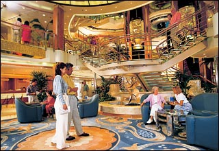 Grand Plaza Atrium on Sun Princess